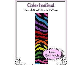 Bead Pattern Peyote(Bracelet Cuff)-Color Instinct