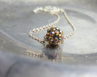 Crystal Bead Necklace Crystal  Bead Necklace Choker Dainty Bead Necklace Children's Necklace Crystal Jewelry