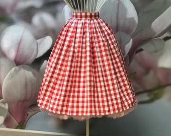 Gingham, Picknick, Summer skirt, Gathered Skirt