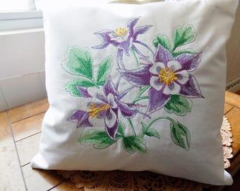Columbine Sketch Toss Pillow