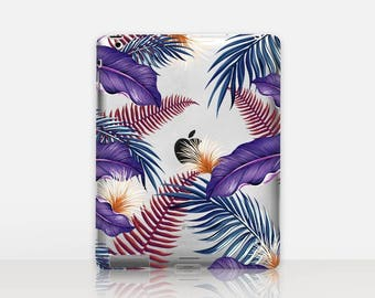 Tropical Floral Transparent iPad Case For - iPad 2, iPad 3, iPad 4 - iPad Mini - iPad Air - iPad Mini 4 - iPad Pro