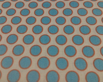 Polka fabric. Spots and dots - Henna - 100% cotton Fabric