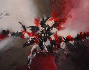 abstract painting modern, climb