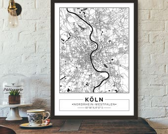 Map poster etsy kln germany gumiabroncs Images