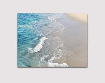 Large Canvas Art, La Jolla Shore, Ocean Beach Waves, Ready To Hang Canvas Print, Bedroom Decor, Living Room Decor, Beach House, Gallery Wrap