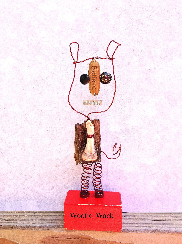 DRAHTKUNST-Draht Figur Skulptur Draht Art Hund Tier