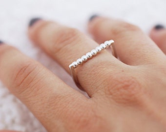 Minimal Stacking Ring, Sterling Silver Ring, Modern Stackable Ring, Sterling Silver Stackable Ring, RS021