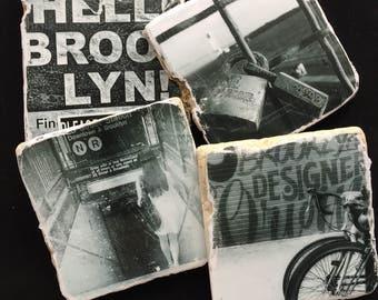 Brooklyn coasters-Urban photography-Brooklyn gifts-urban coasters-NYC photo-Brooklyn art-Klaygirl Coasters-New York coasters-Brooklyn