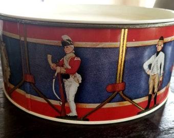 Vintage British Soldiers Cookie Tin, Vintage Cookie Tin, British Soldiers Tin, UK Memorabilia, UK Collectibles, British Collectible