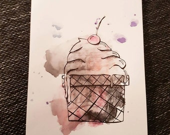 Cupcake// Watercolours// Aquarell// DIN A4// OliSkyless// Art// Painting// Drawing// Sketch// Illustration// Doodle// Cooking// Baking//