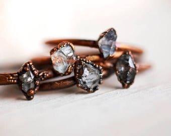 Herkimer Diamond ring - Herkimer Ring - Herkimer Stacker Ring - Herkimer Diamond Jewelry