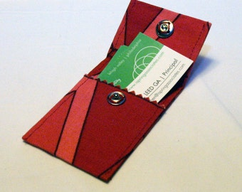 Upcycled Upholstery Sample Business Card Case