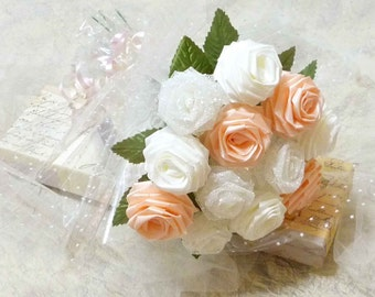 Origami Vintage Victorian Rose Bouquet (1 Dozen Gift Wrapped) Anniversay Gift, Valentines day gift, Party favors