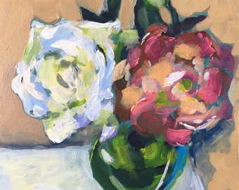 Hope Blooms, (6x6), original painting