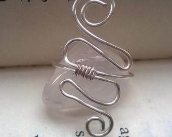 Silver Wire Ring - Swirl/Snake Design