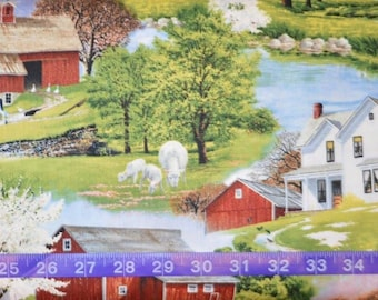 Wilmington Prints. Spring Ahead. Scenic Multi - BTY - Cotton fabric - Choose cut