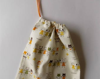 Small mini farandoles retro animals fabric