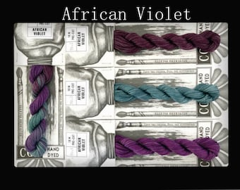 African Violet Cottage Garden Threads Stitchers Palette -CGT- 6 Strand Cotton embroidery thread- Hand Dyed Thread-Quilting Australia