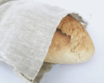 linen bread bag / produce bag / waste free / sustainable / reusable / zero waste