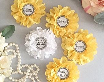 Bridesmaid Gift - Bachelorette Badge - Will You Be My Bridesmaid - Bridal Party Pins - Bridal Shower Badge - Bridal Shower - Badge