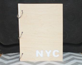 Custom location inital travel journal/ mini album