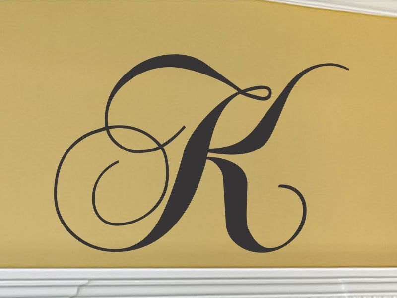 Monogram Letters for Wall Single Letter Monogram Wall Decal