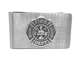 Fireman's Cross Money Clip – Metallic