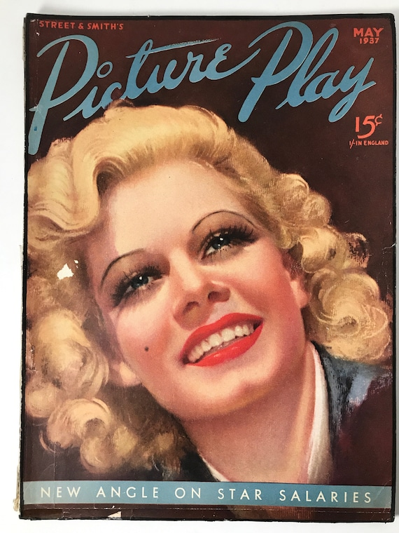 Picture Play May 1937 - Cover Jean Harlow