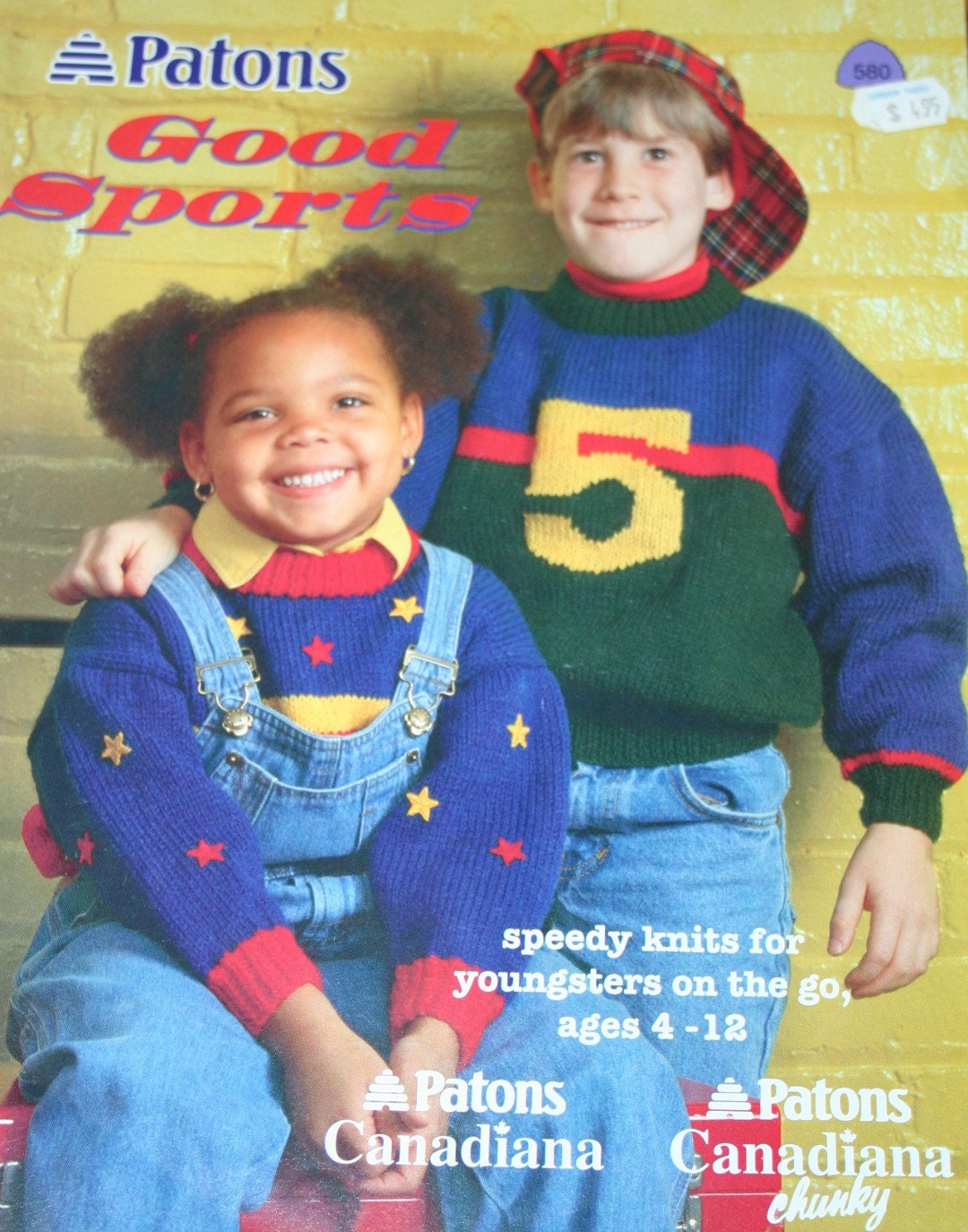 Sweater Knitting Patterns Kids Good Sports Beehive Patons 580 ...