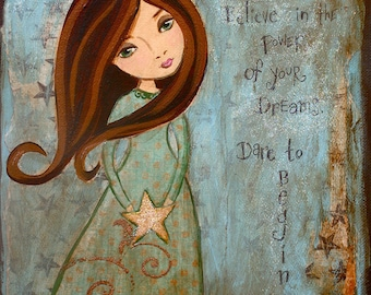 Childrens Decor- Kids wall Art - Inspirational Art - Girls Room Decor- Canvas Art -  Any Size Print on Canvas You Pick