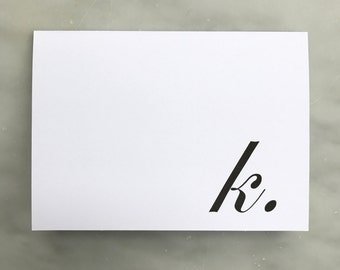 Initial Note Card - Ever So Pretty Paperie