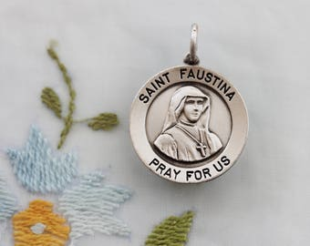 St. Maria Faustina Kowalska and Divine Mercy of Jesus Medal  - In pristine Condition