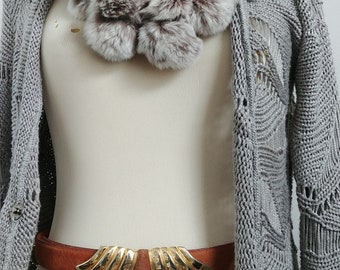 Fashion Suede Leather Gold Buckle Belt  -Size M/L - Tan Leather Statement Belt - Stylish Art Deco like Buckle Design adjustable Belt
