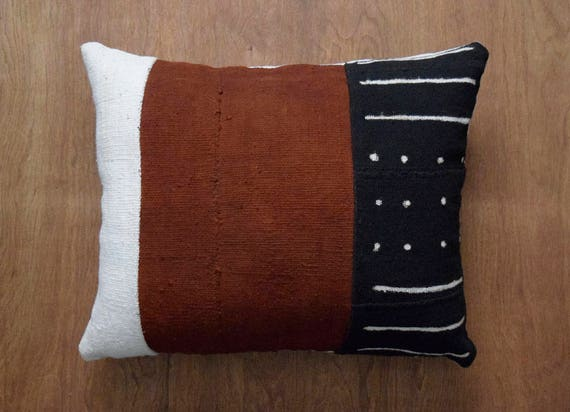Authentic Mudcloth Pillow Cover For 16 X 20 Pillow