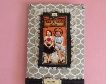 She Has a Dark Side mixed media Gift Card Holder