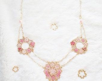Sakura Matsuri Dance of the Sakura Blossoms Necklace