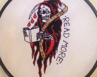 Grim Reaper Embroidery