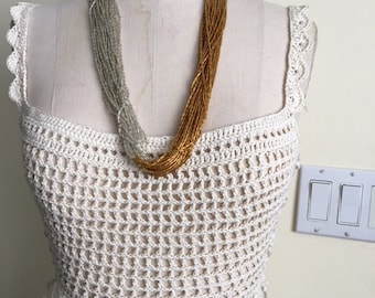 Hand Crocheted Summer Crop Top