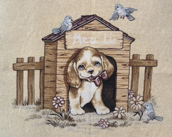 Fabric Panel tapestry puppy coupon before the niche