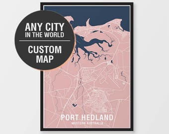 Custom map print any city in the world city print any custom map print any city in the world city print any location choose colours personalised maps poster art prints gumiabroncs Images