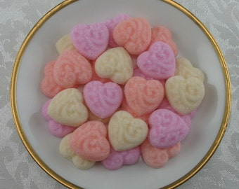 36 Sweetheart Mix Victorian Heart shaped sugar cubes for Valentine's Day, tea party, shower, coffee, tea, party favor, wedding, hostess gift
