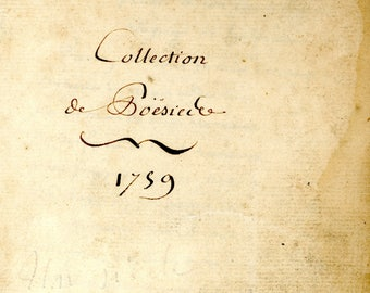 Antique c1759  Poetry book of hand written poems.