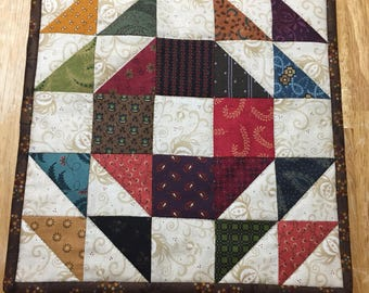 Quilted Candle Mat/Quilted Table Topper/Mini Quilt/Centerpiece Mat