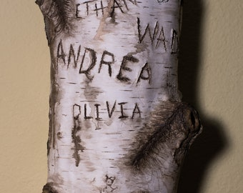 Personalized Birch Tree Carving