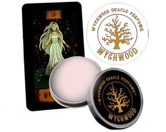Wychwood Solid Perfume. Mystical Forest Scented Solid Perfume.  Jasmine. Moss. Amber. Scented Balm. Solid Perfume. EU compliant