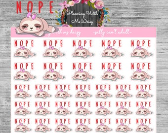 Sally Nope (Can't Adult) Stickers