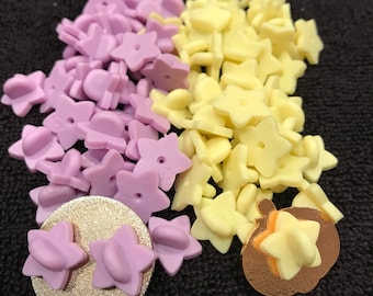 Rubber chubby star pin backs. You pick your color and quantity