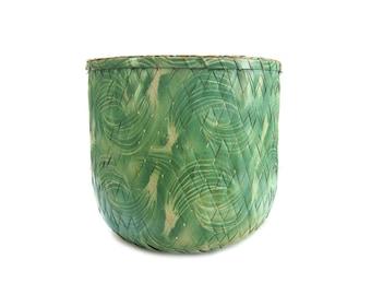 Shafford Bamboo Basket - Handmade Tropical Basket or Planter