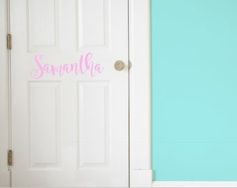 Custom Name Vinyl Door Decal