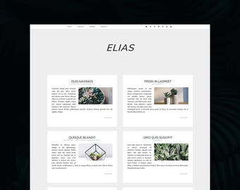 Elias Theme - Minimalist WordPress Theme - Genesis Child Theme - Responsive Theme - WordPress Blog Theme - Blogging Theme - Minimal Theme